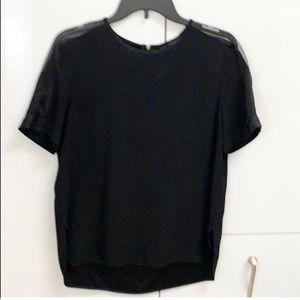 Zara top with sheer shoulders